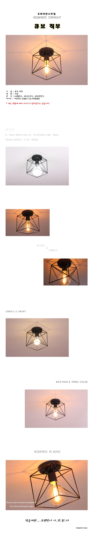 boaz 큐브직부 - 보아스라이팅, 16,000원, 리빙조명, 방등/천장등